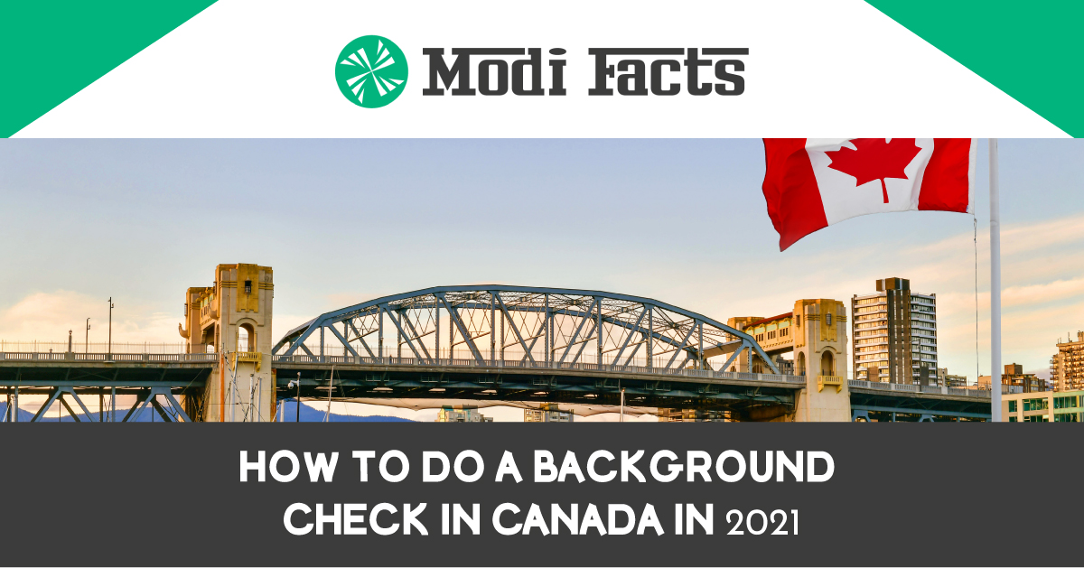 How to do a Background Check in Canada in 2021